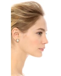 kate spade new york - Shore Thing Crab Stud Earrings - White/Clear - Lyst