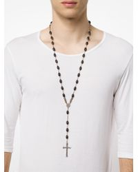 Roman Paul | Metallic Diamond Crucifix Rosary for Men | Lyst