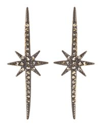Freida Rothman - White Cz Long Starburst Earrings - Lyst