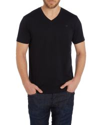 DIESEL | Black T-therapon V Neck Logo T-shirt for Men | Lyst