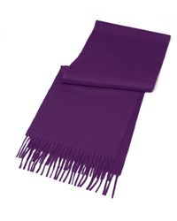 Brooks Brothers | Purple Cashmere Scarf | Lyst