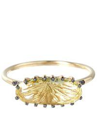 Suzanne Kalan | Metallic Gold Lemon Quartz Oval Ring | Lyst