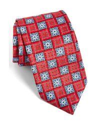 JZ Richards - Blue J.z Richards Geometric Silk Tie for Men - Lyst