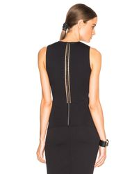 Alexander Wang | Black Perforated Ball Chain Spine Tank | Lyst