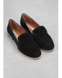 a09520a363b   Other Stories Suede Loafers in Black - Lyst