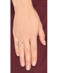 Monica Vinader | Pink Naida Circle Open Ring | Lyst