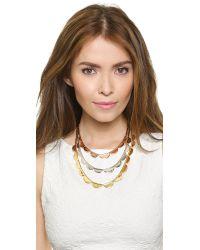 Kate Spade | Metallic Sweetheart Scallops Triple Strand Necklace - Metal Multi | Lyst