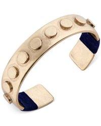 Lucky Brand | Metallic Bracelet, Gold-tone Lapis Lego Cuff Bracelet | Lyst