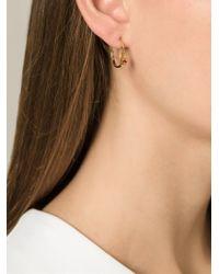 Puro Iosselliani   Metallic Garnet Ring Earrings   Lyst