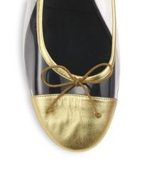 Saint Laurent | Dance Metallic Leather Ballet Flats | Lyst