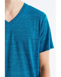 BDG | Blue Standard-fit Tri-blend V-neck Tee for Men | Lyst