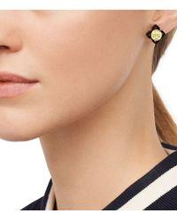 Tory Burch | Metallic Babylon Resin Stud Earring | Lyst