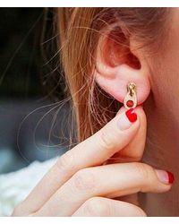 Anne Sisteron   Metallic 14kt Yellow Gold Diamond Zipper Earrings   Lyst