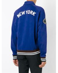 Polo Ralph Lauren - Blue Embroidered Varsity Jacket for Men - Lyst