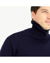 J.Crew | Blue North Sea Clothing Diver Turtleneck Sweater for Men | Lyst