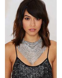 Nasty Gal - Metallic Geneva Chain Handkerchief Necklace - Lyst