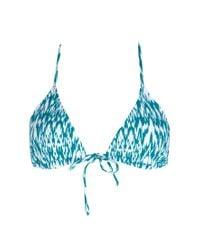 Forever 21 | Blue Glam Girl Triangle Bikini Top | Lyst