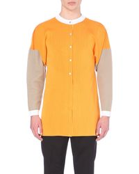 J.W.Anderson - Yellow Block-Coloured Cardigan - For Men for Men - Lyst