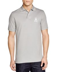 Psycho Bunny - Gray Tall Bunny Polo - Regular Fit for Men - Lyst