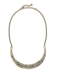 Lydell NYC - Metallic Pave Crystal Collar Necklace - Lyst