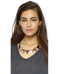 Adia Kibur | Pink Abby Necklace - Rose Gold | Lyst