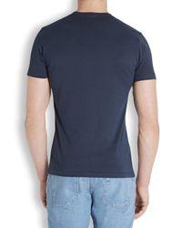 Paul Smith | Blue Neptune Skull Printed Cotton T-Shirt for Men | Lyst