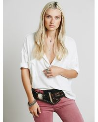 Free People | White We The Free Stardust Henley | Lyst
