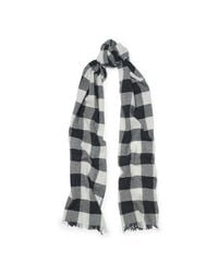 Polo Ralph Lauren | Black Checked Wool Scarf | Lyst
