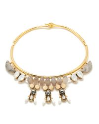 J.Crew | Metallic Statement Stone Collar Necklace | Lyst