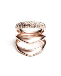 Alexis Bittar - Multicolor Liquid Rose Gold Crystal Encrusted Draping Ring - Lyst