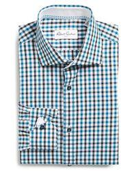 Robert Graham - Green 'berlin' Regular Fit Check Dress Shirt for Men - Lyst