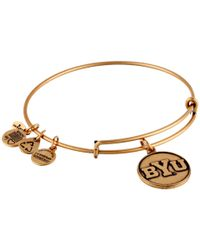 ALEX AND ANI | Metallic Brigham Young University Logo Charm Bangle | Lyst
