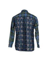 MSGM - Green Shirt for Men - Lyst