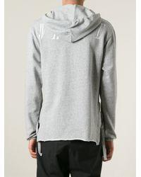 Off-White c/o Virgil Abloh - Gray Deconstructed Sweatshirt for Men - Lyst