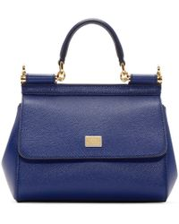 Dolce & Gabbana - Royal Blue Mini Miss Sicily Bag - Lyst