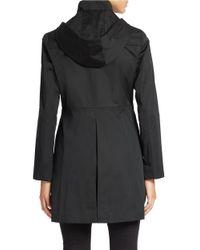Jones New York - Black Fitted Water-resistant Coat - Lyst