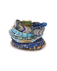 Hipanema | Blue Embellished Cuff | Lyst