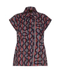Vivienne Westwood Anglomania | Multicolor Band Printed Cotton-blend Shirt | Lyst