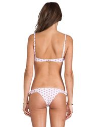 Tori Praver Swimwear | White Cabazon Top in Fuchsia | Lyst