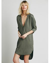 741a585defe8d Free People Gallery Dress in Green - Lyst
