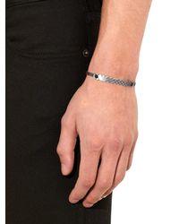 Bottega Veneta - Black Oxidised-silver And Onyx-stone Bracelet for Men - Lyst