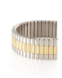 Forever 21 | Metallic Men Two-tone Stretch Bracelet for Men | Lyst