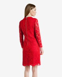 Ted Baker | Red Ameera Scalloped Hem Lace Dress | Lyst