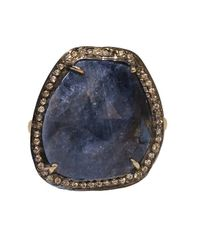 Adornia - Sterling Silver And Blue Sapphire Gemma Ring - Lyst