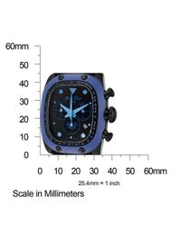 Glam Rock - Men'S Gulfstream Chronograph Black Dial Blue Ceramic Case Cover Black Silicone for Men - Lyst