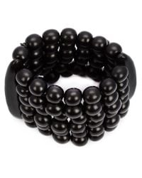 Monies | Black Round Beaded Bracelet | Lyst