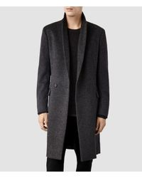 AllSaints | Black Zenith Coat for Men | Lyst