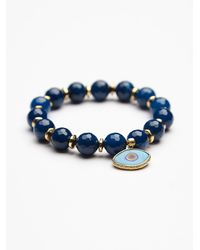 Free People | Blue Eye Of The Sea Womens Eye Of The Sea Bracelet | Lyst