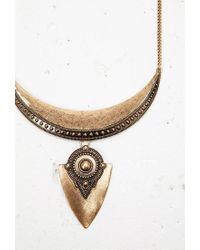 Forever 21 | Metallic Etched Bib Statement Necklace | Lyst