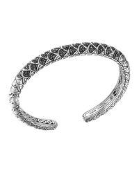 John Hardy - Metallic Naga Silver Lava Slim Kick Cuff With Black Sapphire - Lyst